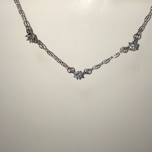 3 Stone Silver Necklace